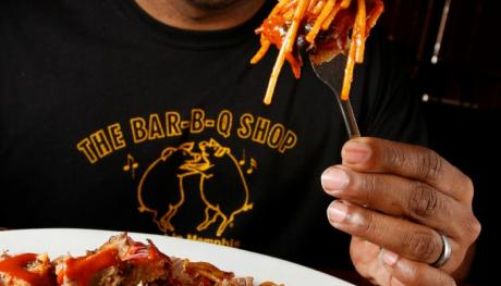 Barbecue spaghetti from Bar-b-q shop - Justin Fox Burks