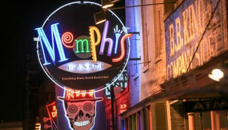 Neon sign on Beale Street in Memphis