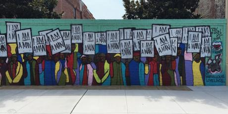 """I Am A Man"" Mural on south main Memphis"