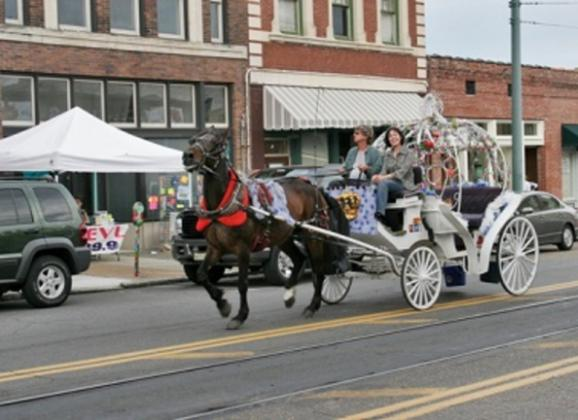 Enjoy a carriage ride in downtown Memphis. Photo by Baxter Buck
