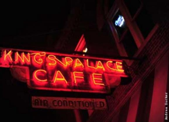 Cajun cuisine and live blues and jazz nightly at King's Palace Cafe. Photo by Andrea Zucker.