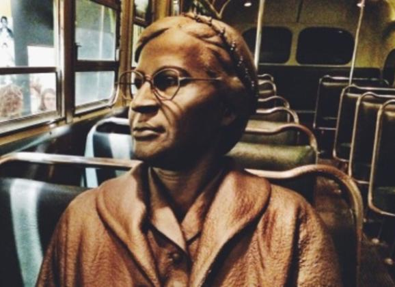 Rosa Parks and the bus boycotts exhibit at National Civil Rights Museum. Photo by Memphis CVB